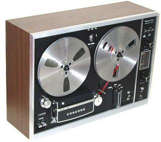CONCORD Reel o Reel ape Recorder 3 speed 3 head Sound on Sound