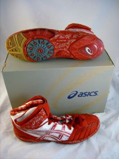 Asics ULTRATEK Mens WRESTLING Shoes size 13 NEW NIB Red