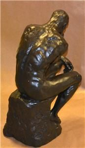 Extra Large 8kg Auguste Rodin The Thinker Cold Cast Bronze Man