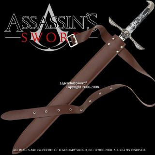 Sword of Altair Assassins Creed Movie Game Blade w Brown Carrying Belt