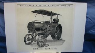 1921 Aultman Taylor Machinery Co 22 45 Steam Tractor