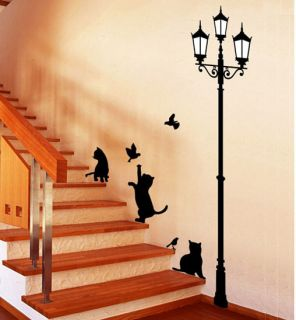 DIY Mural Decals Decor Home Art Removable Paper Craft Wall Sticker Cat