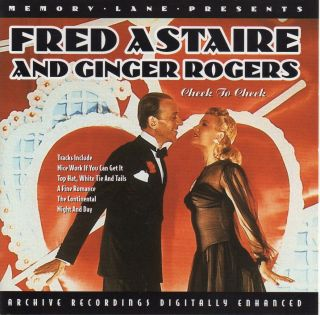 FRED ASTAIRE AND GINGER ROGERS CHEEK TO CHEEK CD