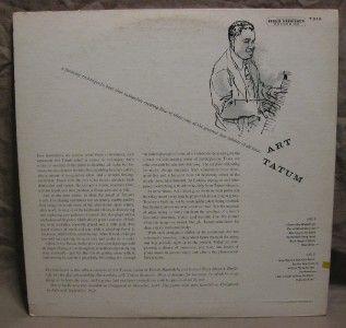 LP 12   ART TATUM ART TATUM JAZZ TRIO   CAPITOL LABEL 1955