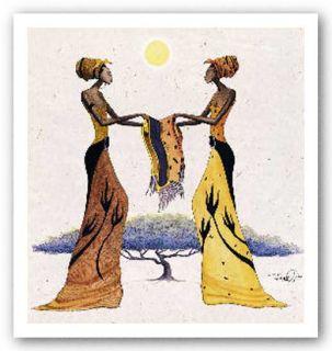 African American Art Between Friends by Albert Fennell
