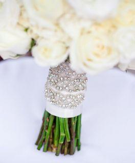 Austrian Crystal Jeweled Bling Rhinestone Wedding Bouquet Wrap Jewelry