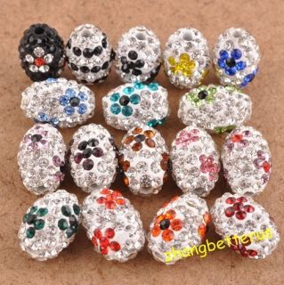Pcs Austrian Crystal Flower Football Spacer Beads Charms Findings