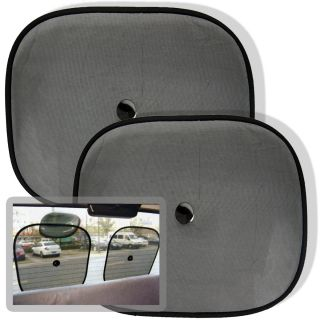 Set of Two Car Window Suction Cup Sun Shade Visors