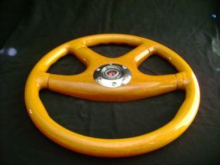 New 15 Light Yellow Ochre Wood Grain Steering Wheel
