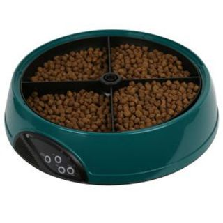 Meal Automatic Pet Feeder for Cats / Dogs Keeps Food Fresh Built in