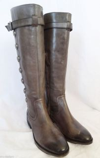 Arturo Chiang Enlighten Gray Leather Tall Riding Equestrian Boots 6 5