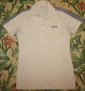 vtg 80s atp adidas tennis polo shirt medium m