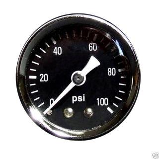 Marshall 0 100 PSI Fuel Pressure Gauge 1 5 Black 15029
