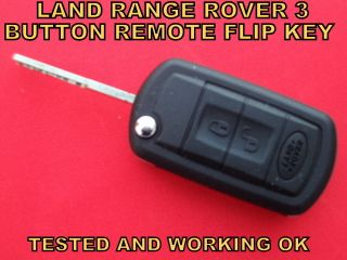 ROVER SPORT DISCOVERY 3 BUTTON CAR REMOTE CONTROL ALARM KEY WORKING