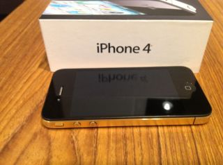 Apple iPhone 4   16GB   Beautiful Gold Plated ATT Smartphone