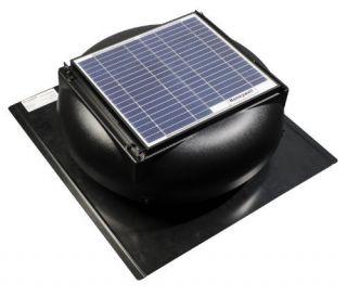 527SHON100BLK 12 Watt Roof Mount Solar Powered Attic Fan