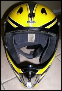 HJC CL x4 Logic Full Face Helmet ATV Motocross Bike Yellow Black Dot
