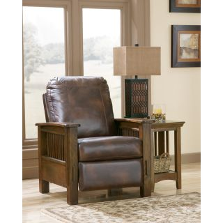 Bradington Young Victoria High Leg Leather Recliner