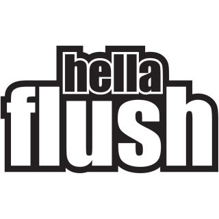 Hella Flush Vinyl Decal Car Window Sticker JDM ILLEST Shocker
