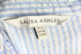 Gorgeous 40s Style Laura Ashley Cotton Seersucker Shirt Dress US 8 UK
