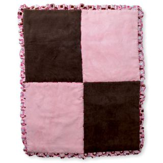 Pink and Brown Baby Girl 10 Piece Crib Bedding Set BNIP