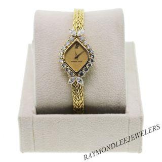 Vintage Ladies Audemars Piguet 18K Yellow Gold and Diamond Watch