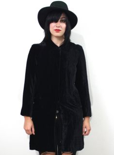 Banana Republic Black Velvet Goth Steampunk Victorian Gypsy Jacket