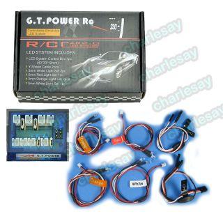 RC Car 1/10 LED lighting Kit Headlight + Signal + Brake