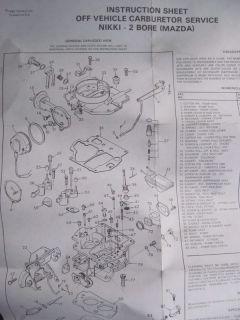 Nikki 2 Bore Mazda Carburetor Rebuild Kit Carter 902 402