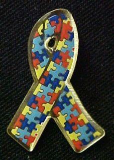 Autism Asperger Awareness Puzzle Ribbon Lapel Pin New