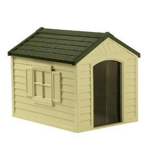 Suncast Dog House DH250 Medium Easy to Assemble for Dogs