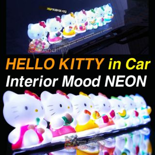 Hello Kitty LED Light Car Interior Mood Neon Lamp Use 12v Cigarette
