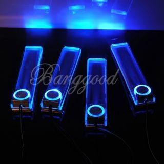 4X Blue LED Car Auto Floor Interior Dash Decorative Light Lamp