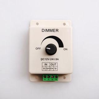 DC 12V 8A LED Light Adjustable Dimmer Brightness Control for Strips