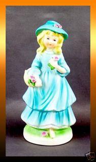 1973 Avon Jennifer Girl w Flowers Porcelain Figurine