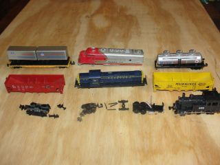 Atlas N Scale UP Flat Car Trailers Locomotives Freight Cars
