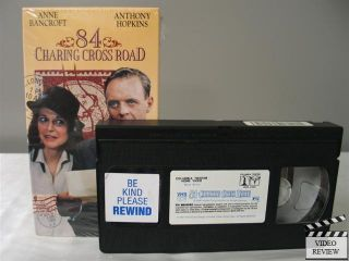 84 Charing Cross Road VHS Anne Bancroft Anthony Hopkins 043396608153