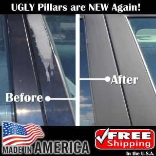 98 05 Matte Mat Flat Black Pillar Post Car Door Window Parts