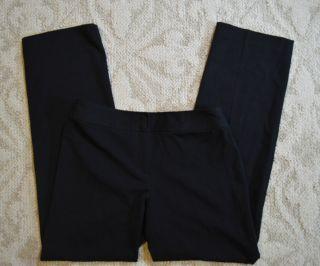 Liz Claiborne Audra Fit Womens Black Dress Pants Slacks sz 6 R