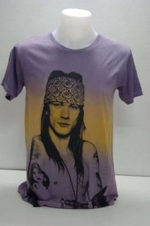 AXL Rose Guns N Roses Heavy Metal Rock Pop T Shirt L