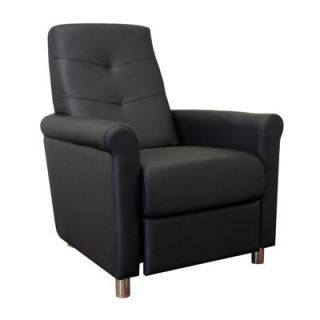 New Baxton Studio Cobden Faux Leather Recliner Chair Black