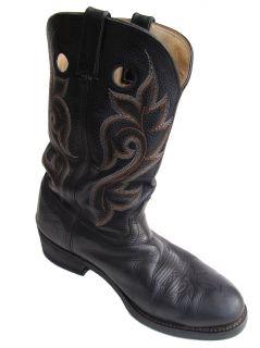 Mens Durango Western Black Boots Size 11 1 2 EE SM