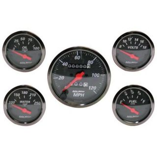 New Auto Meter Designer Black Series Mechanical Gauge Set, Mechanical