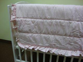 Kidsline Pink Stripe 6 PC Crib Bedding Set