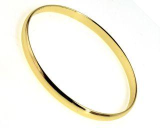 Gold 18K GF Little Bangle Plain Bracelet Baby Girl Infants Birth Gift