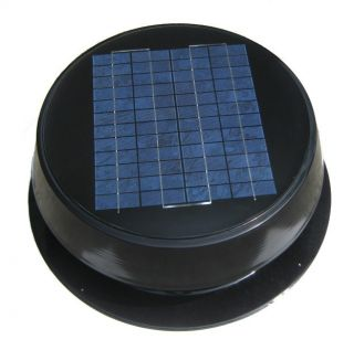 20W Solar Powered Attic Fan with Intergrated Solar Panel on top of