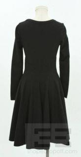 Azzedine ALAIA Black Stretch Knit Long Sleeve Heart Dress