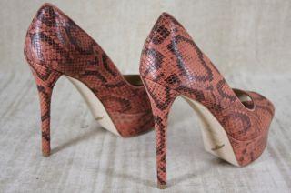 Brian Atwood Bambola Size 9 Red Snakeskin Pumps Heels Platform $
