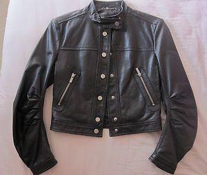 BCBG Max Azaria Black Leather Jacket