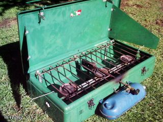 Vintage Coleman 3 Burner 426B Camp Stove Works Great
